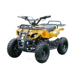 Квадроцикл детский бензиновый MOTAX ATV Х-16 Мини-Гризли с электростартером и пультом Желтый- камуфляж (пульт, задний привод, до 45 км/ч)