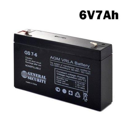 Аккумулятор 6V 7AH GS